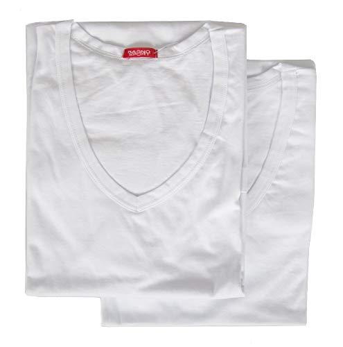 magliette uomo scollo v RAGNO Confezione 2 t-Shirt Uomo Maglietta Manica Corta Scollo V Cotone Bipack Sport Articolo 601418