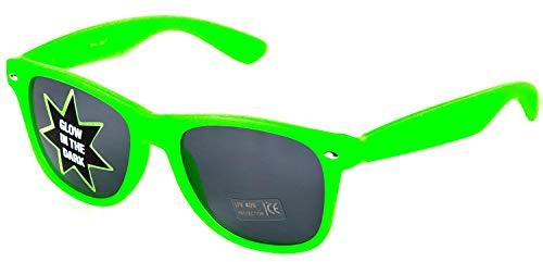 Nerd Clear Sonnenbrille Glow in The Dark | Party Brille im Klassischen Design Unisex: Grün