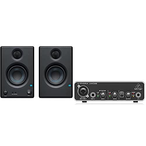 PreSonus ERISE3.5 Studio-Monitore & Behringer UMC22 Computer Audio Interface