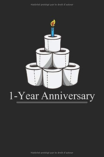 Papier toilette anniversaire un an avec bougie: Bloc-notes: papier ligné de 120 pages au format 15 x 22, 86 cm (6