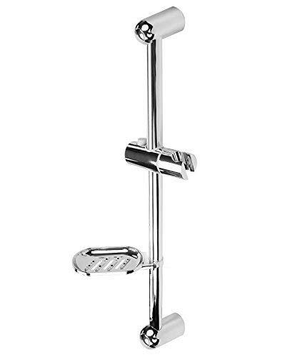 Douchestang chroom in 3 varianten met instelbare wandstang en wandhouder 600 mm met legplank douchestang Classic