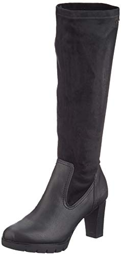 TOM TAILOR Damen 7991709 Hohe Stiefel, Schwarz (Black 00001), 38 EU