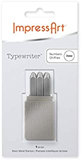 ImpressArt Typewriter Metal Number Stamps, 3mm