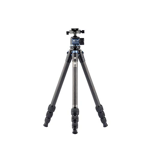 """Sirui Carbon Fiber Tripod AM-254 47.2"""" 10X with Ball Head A-10R,Stainless Steel Spikes,Case, Black (112505)"""