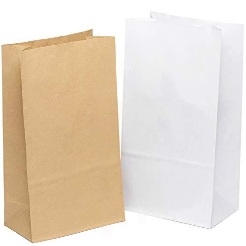 kgpack 100x Bolsas de papel kraft DIY 14 x 26 x 8 cm   Bolsas de papel Kraft para niños   calendario de adviento   Bolsa de regalo de fondo plano   Bolsa de papel de alimentos