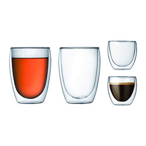 Bodum K4557-10 Set Doppelwandige Gläser ,( 2 Stücke 0,08 L und 2 Stücke 0,35 L)