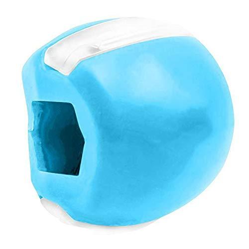 Eco Memos Exercice de la Mâchoire 3Pcs Tonique de Mâchoire et Visage pour Appareils de Tonification pour le Visage - Jaw Exerciser Neck Toning Facial Beauty Tool (Bleu)