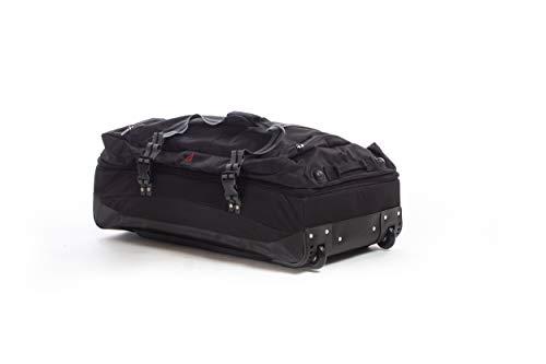 Alpini Aventura - Bolsa de Viaje (Flexible, 2 años, Doble Compartimento) Negro Negro (Black) (SOUTE) L - Large - 90L - 75x40x31cm - 3,3kg