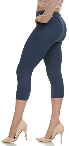 LMB Lush Moda Extra Soft Capri Leggings - Variety of Colors - Charcoal Grey