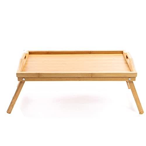 Bamboe Bed Lade Tafel Met Opvouwbare, Ontbijt Dienblad Voor Sofa, Bed, Eten, Werken, Gebruikt Als Laptop Bureau Snacklade