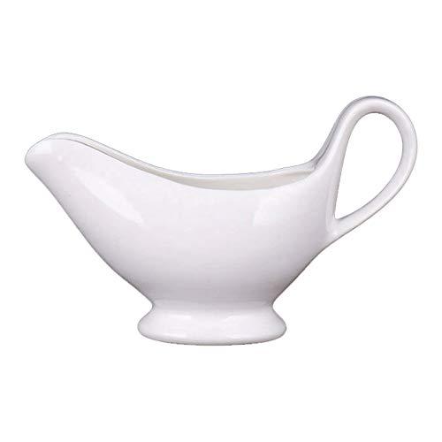 YUXI8541NO 4.33 Pulgadas x 2.16 Pulgadas x 2,75 Pulgadas Gravedad de cerámica Tarro de Crema de embarcadero Tarro con asa, Blanco 90 ml Adecuado para Cocina