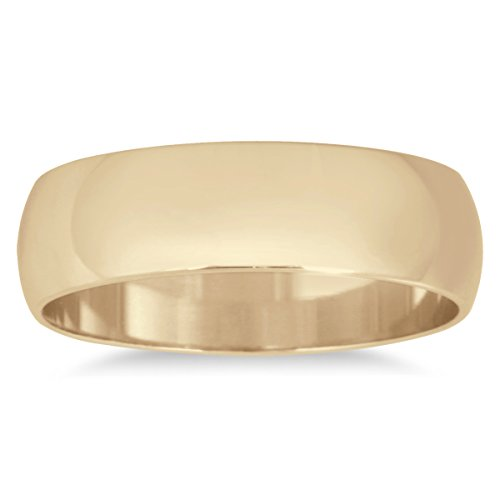 5mm Domed Wedding Band in 10K Yellow Gold