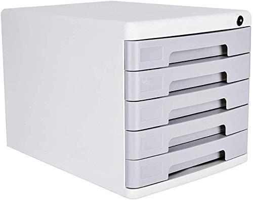Archivador plano Archivo contenedor duraderos plásticos Superiores cajones Útil cajón Unidad de Almacenamiento de plástico (36X27X26CM) (Color : White)