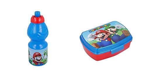 2728; ga terug naar school in Super Mario; bestaande uit fles (400 ml capaciteit) en rechthoekige tosti-machine; BPA-vrij product