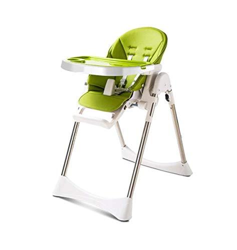 ZOUSHUAIDEDIAN Baby-Hochstuhl, Faltbarer Baby-Esszimmerstuhl, Baby-Fütterungsstuhl-Kleinkind-Stuhl-Snack-Hochstuhl-Sitz Kleinkind-Booster-Möbel, für Baby & Kleinkind 6 Monate bis 36 Monate, grün