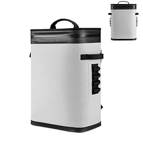 OEM Sac isotherme pour réfrigérateur extérieur - Sac de camping - Sac de voyage - Étanche - 20 l maximum - Pour la maison, la voiture, le camping, la pêche - Gris