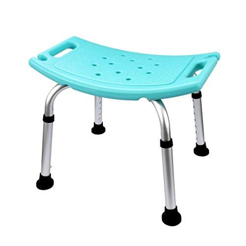 JIEER-C Ergonomische stoel, verstelbaar, van aluminiumlegering, badkamer, douchekruk, inklapbaar, douchestoel, douchebank, badkruk, voor ouderen