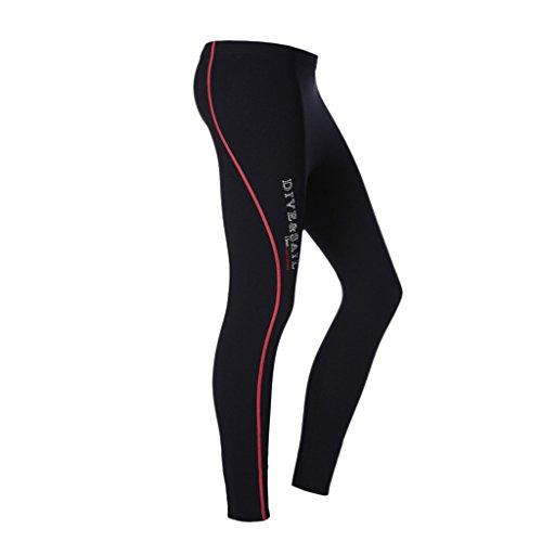 Sharplace Pantalones Largo de Neopreno 1.5mm Fino Caliente Elástico para Buceo Deporte de Agua - Rojo para Las Mujeres, Metro
