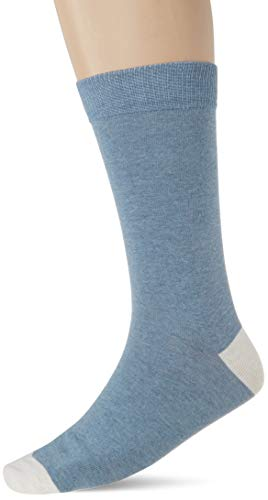 Cortefiel Calcetin Liso Sport, Azul (Azul Medio 13), Talla Unica para Hombre