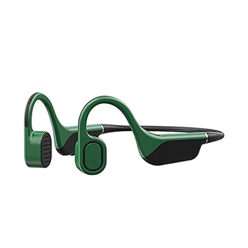 HKJZ SFLRW Auriculares de conducción ósea, Auriculares/Auriculares de Bluetooth inalámbricos de Oreja Abierta, Auriculares Deportivos Ligeros estéreo con micrófono y Control de Volumen (Negro)