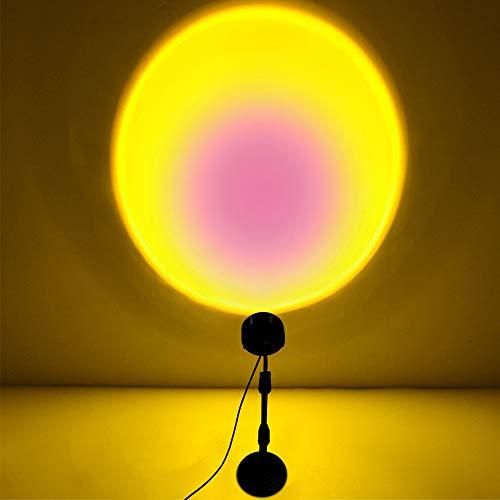 KUWAN Sunset Lamp Sunset Lamp Sunset Sunset Sunset Lamp, conector USB, decoración moderna LED Proyector de luz Rainbow Floor Stand lámpara de luz nocturna para vivienda decoración del hogar