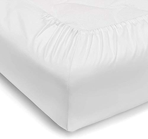 Vesgantti King Size Fitted Sheet, 100% Pure Cotton Fitted Sheet with Extra...