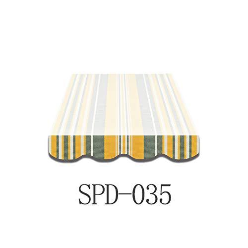 Home & Trends Markisen Volant Markisenbespannung Ersatzstoffe Mehrfarbig Maße 4 x 0.23 m Markisenstoffen fertig genäht mit Bordeux (SPD035)