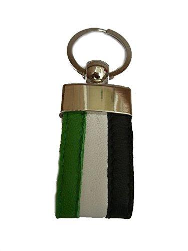 YOJAN PIEL   Llavero de PIEL Bandera de Extremadura   Para Mantener las Llaves Juntas   Llavero Colgante de Metal y Cuero   Resistente y Duradero   Gran Acabado y Calidad