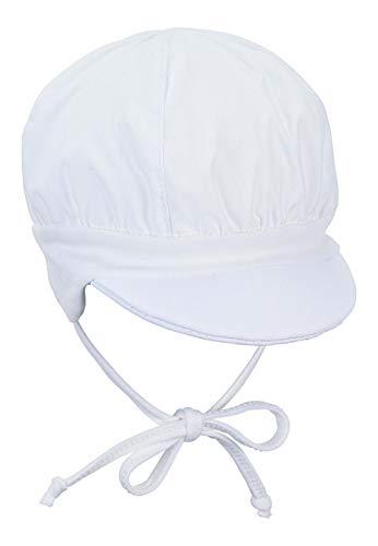Sterntaler Ballonmütze für Jungen mit Bindebändern und Ohrenklappen, Alter: 3-4 Monate, Größe: 39, Weiß