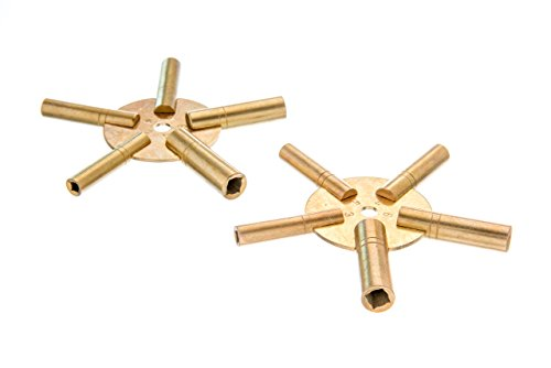 SE Even and Odd 5-in-1 Brass Clock Winding Key Set (2 PC.) - JT6338-2