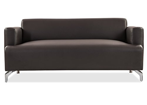 Durian Windsor Three Seater Sectional Sofa (Matte Finish, Coffee Brown)