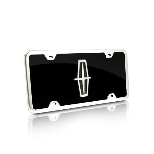 Honda Red Logo Black Acrylic License Plate with Chrome Frame Kit