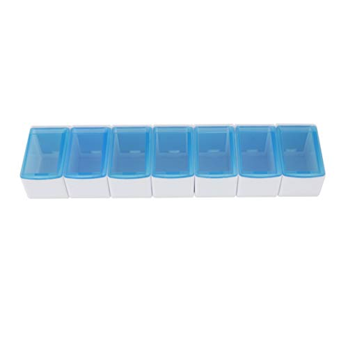 Pastillero semanal de 1 toma diaria, Blanco y azul, Mobiclinic