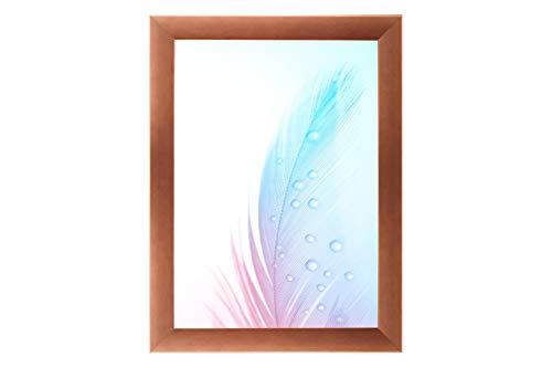 Duisburger-Rahmen24 DR24 fotolijst (koper) op maat, houten frame van MDF 35 mm breed, inclusief synthetisch glas, niet-verblindend, stabiele achterwand, vouwpennen en haken 75 x 100 cm Koper.