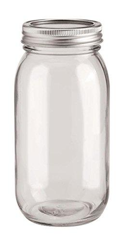 GLOREX Glas mit 2-Tlg Deckel, Transparent, 8 x 18 cm ,650ml