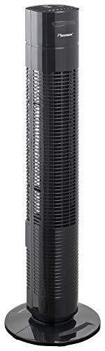 Bestron Turmventilator mit Schwenkfunktion, Timer und Fernbedienung, Höhe: 78 cm, Summer Breeze, 35 Watt, Schwarz