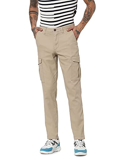 Jack & Jones JJIMARCO JJJOE AKM Crockery Pantalones Cargo, Vajilla, 27W x 30L para Hombre