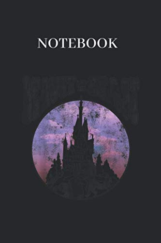 Notebook: Disney Beauty The Beast Vintage Retro Graphic Lined Notebook Journal Black Cover Arts with College Lined Notebook Journal Size 6in x 9in x 125 Pages to Write