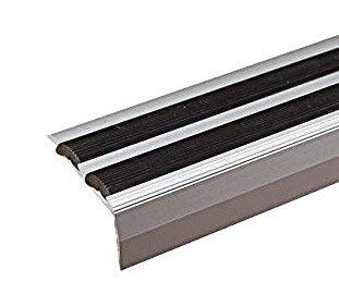 Aluminium Anti Non Slip Stair Edge Nosing -Trim- 900x35x20Mm Cezar (Silver)