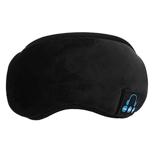 Keenso Benda Bluetooth, Cuffia Wireless Musica Lavabile Benda per Dormire(Nero)