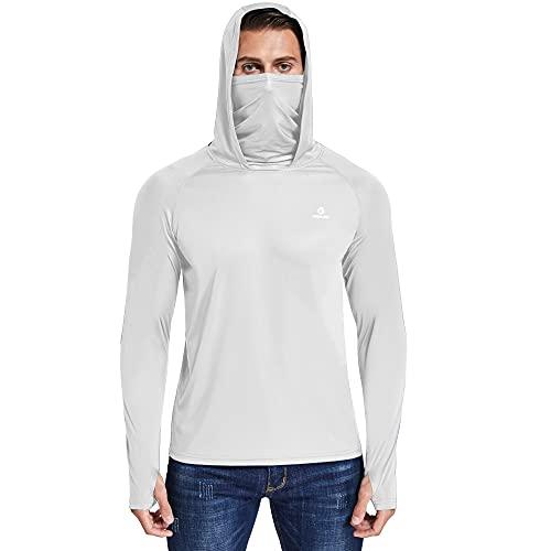 Ogeenier Cuello Alto Camiseta Manga Larga Hombre Camiseta Deporte Ciclismo Proteccion...