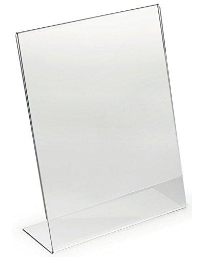 Dazzling Displays 8.5 x 11 Slanted Sign Holders (3-Pack)