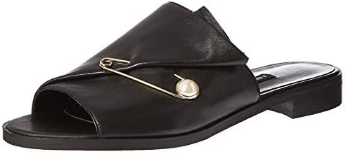 NINE WEST Women's Carlonda Leather Slide Sandal