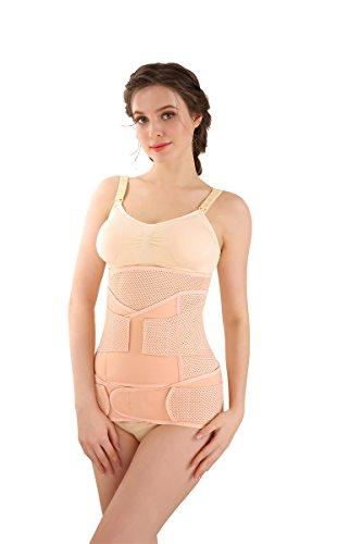 "Baby Bucket Corset Belt (Set of 3) | Slimming | Waist Trimming | Postpartum Abdomen Shaper Belt | Strap Breathable (Pink XL 33""-38"" Inches) - [3002/0117 3PC ST DOTS - LPINK]"