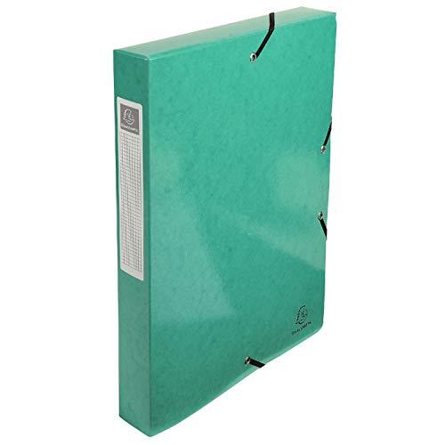 Exacompta Boîte de classement Iderama, dos 40 mm, A4, Vert Dark (Green), 1 Unité