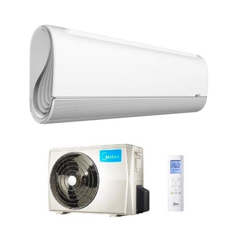 Climatizzatore 9000 Btu, Inverter, Monosplit, Classe A+++/A++, Gas R32, Midea 09HRFN8 BREZELESS