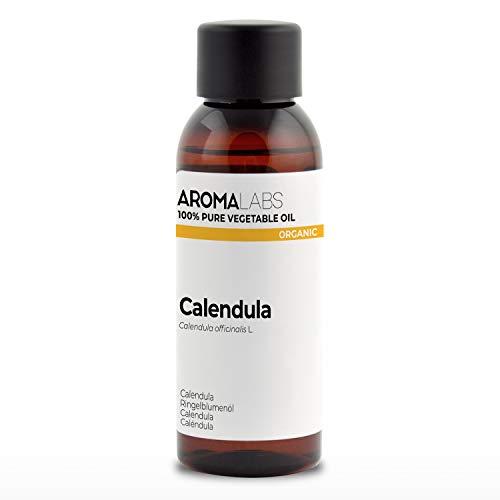 100% BIO - Macérât huileux de CALENDULA - 50mL - Garanti Pur, Naturel, Certifié Biologique - Aroma Labs (Marque Française)