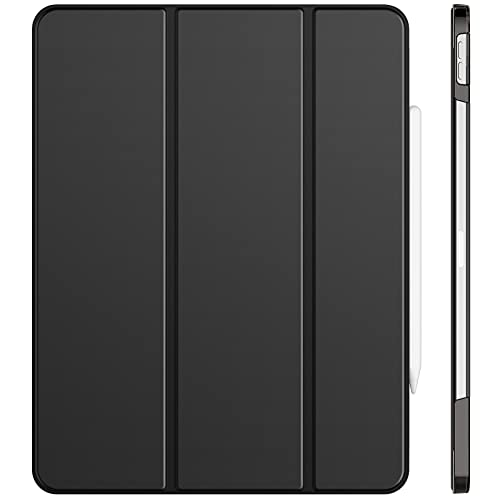 JETech Custodia Compatibile con iPad Pro 12,9 Pollici (5a Generazione, Modello 2021), Supporta la Ricarica di Pencil, Intelligente Cover con Auto Svegliati/Sonno, Nero