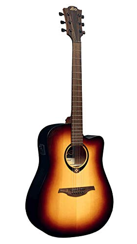 LAG T70DCE-BRB Guitarra Electro Acústica Formato Dreadnought con Cutaway Serie Tramontane