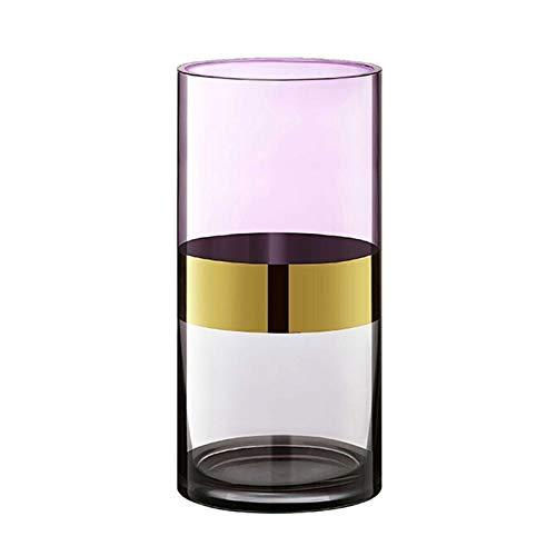 ZXJTX Decoración del hogar/Jarrones American Gold-Chapado en el hogar Decoración de la casa Dormitorio Sala de Estar gradiente Color Moderno clásico jarrón Decoraciones Modernas De Granja